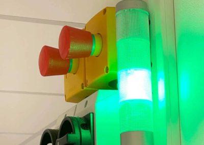 Temperaturüberwachung - 4-farben Ampelsystem