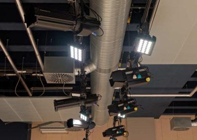 Gymnasium Haan Aula Beleuchtung