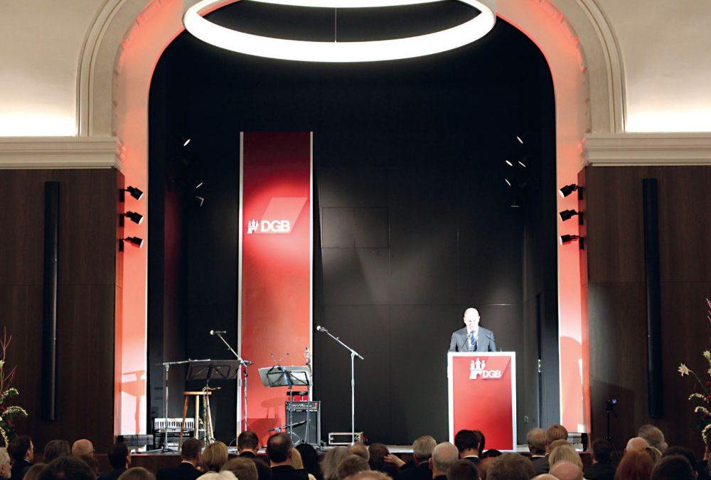 Wiedereröffnung der Säle im Hamburger Gewerkschaftshaus
