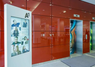 Digital Signage bei A1 / easescreen
