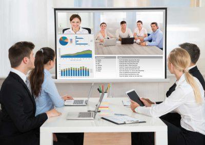 Web-Videokonferenzen-Medientechnik