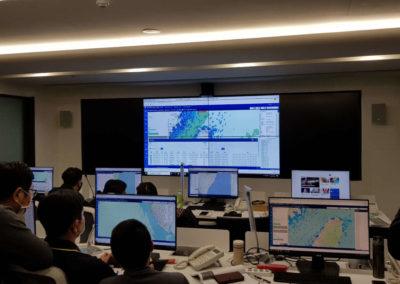 ZeeVee Taiwan Maritime Control Center - staff J PCs and video wall