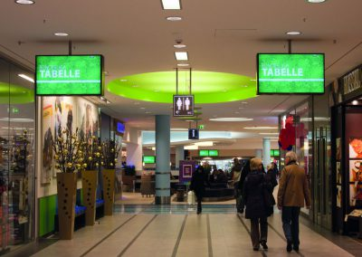 Digitale Informationssysteme im Einkaufszentrum