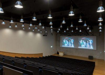 Medientechnik im Hörsaal Belval/Luxemburg / promedia