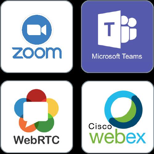 zoom  webex ms-teams webrtc